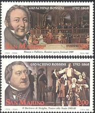 San Marino 1992 Rossini/Composers/Music/People/Opera/Singing 2v set (n43533)