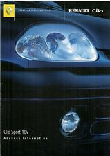 Renault Clio Sport 16v 1.2 2000-01 UK Market Preview Foldout Sales Brochure