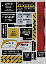 ACES II ejection seat decals