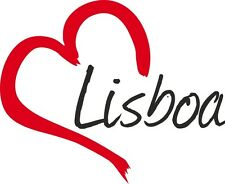 """Auto Aufkleber """" LISBOA """" Sticker Lissabon Stadt Portugal ca.9x11cm konturgesch."""