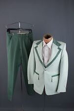 Vtg 60s 70s Green Tuxedo sz S 27x29.5 #1265 After Six Formals Tux Leisure Suit