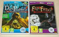 2 WIMMELBILD PC SPIELE - FILM FATALE & DARK PARABLES 2 - ADVENTURE WIE NEU