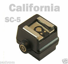 SC-5 Flash Hot Shoe Adapter for SONY Alpha SLR A350 FS-1100 PC Connection A100