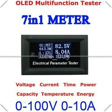 100V 10A OLED Digital Tester amp Volt Power meter Time Capacity energy Temp DY2