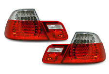 Back Rear Tail Lights Lamps Red-Clear LED Pair For BMW E46 Coupe 99-3/03 - On
