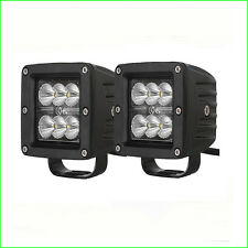 Pair 18W 3X3 Pods Cube Flood Led Work Light Marine Ranger Polaris 4X4 Jeep Boat