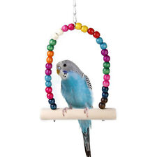 New Wood Swing Bird Toy Parrot Cage Hanging Finch Parakeet Cockatiel Pet Perch