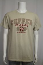 Men's MEDIUM Copper Colorado Elevation 12,313 Ft. Beige Tan SS T-shirt