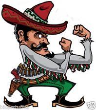 FIGHTING MEXICAN MAN HELMET STICKER HARD HAT STICKER BUMPER STIKCER