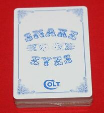 Colt Firearms Factory Snake Eyes Deck of Cards Mint