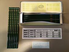 12 Vintage Faber Castell 6H Lead Pencils in a Hinged Metal Box NOS