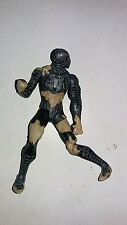 Spider-man 3 black costume sand battle damage 4 inch figure