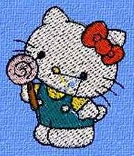 Disegno per tutte le macchine da Ricamo Hello Kitty 042 .pec, .pes, .vp3 hus