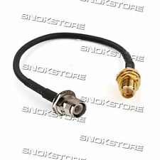adapter CONNECTOR pigtail RP-SMA jack male pin to RP-TNC male CABLE RG174 WiFi