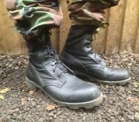UK BRITISH ARMY SURPLUS BLACK WELLCO JUNGLE COMBAT BOOTS,LEATHER & CORDURA UPPER