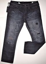 Buffalo David Bitton men's indigo ripped jean size 38x32 style SIX slim straight