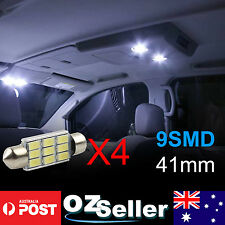 4x Super Bright 41mm 9-LED Car Interior Light Festoon Dome Map Lamp Roof Bulbs