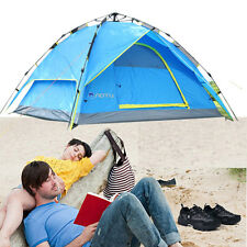New 3-4 Person Family Instant Tent Hiking Camping Outdoor Waterproof