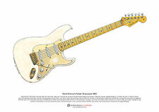 David Gilmour's Fender Stratocaster 0001 ART POSTER A3 size