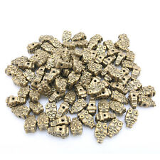20pcs New Double Sided Antique Bronze Owl Alloy Spacer Bead Fit Jewelry Making C