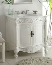 "32"" Traditional Style Antique White Fiesta Bathroom Sink Vanity  CF-2873W-AW"