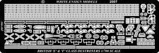 White Ensign Models 1/700 #PE7066 E & F Class Destroyer Etching Parts for Tamiya