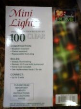 December Home White Rope lighting 100 Clear Bulbs Christmas Lights In/Out