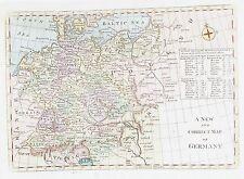 Antiguo Mapa Antiguo Alemania c1760's por Bowen 18th Century Grabado
