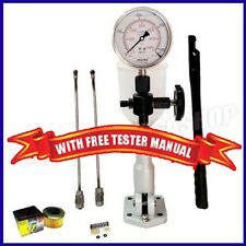 Diesel Injector Nozzle Pop Tester Glycerin Filled Dual Scale 6000 BAR/PSI Gauge-