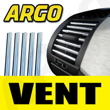 5x CHROME VENT STRIP KIT BORDURE CALANDRE EFFET Stylisé PLINTHE DÉCORATION