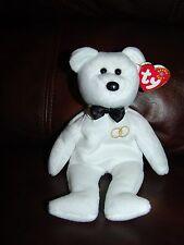 "NWT 2001 Ty Beanie Babies Mr. the White Wedding Groom Bear Doll 8 1/2"""