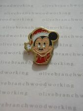 1990s Disney Christmas Holiday SANTA CLAUS MINNIE MOUSE HEAD With Red Scarf Pin