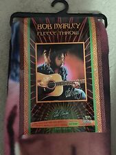 Bob Marley Fleece Throw Songs Of Freedom Blanket Playing Guitar 50 x 60 Inches