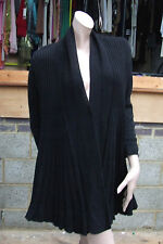 Whisper M/L Divine Black Knitted Long Sleeve Knit Swing Jacket / Coat / Sweater