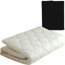 Japanese Traditional Futon Mattress with Cover (Black) Twin Size Made in JAPAN