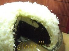 "☆Snowball Cake ""RECIPE""☆Both Pink & White☆1 From Scratch~1 W/Devil's Fd Cake Mix"