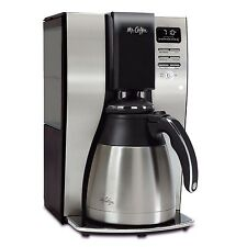 Mr. Coffee Optimal Brew 10-Cup Thermal Black Stainless Coffeemaker Refurbished