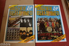 BEATLES - ON COVER OF 2 HYPER RARE 1987 DUTCH MAGAZINES . LOOK!