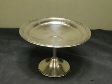 Art Nouveau~WALLACE~Sterling Silver Ornate Embossed Rim Pedestal Candy Dish***