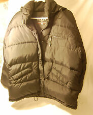 Black Guess Outerwear Down Jacket Hooded Zip Adjustable Size M Back To School