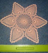 Fatto a mano corallo rosa crochet doily Star - 30 cm
