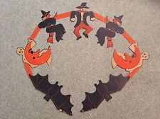 Vintage Collectible 1950's Hanging Cardboard Linked Jointed Halloween Decoration