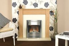 Fireplace Suite in Oak with Helios Steel Electric Fire, 43 Inch