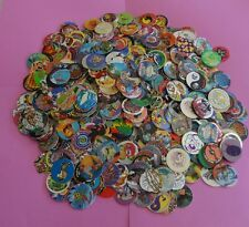 "Pogs Milkcaps * 1000 Miscellaneous Variety w/10 slammers and two 6"" misc tubes"