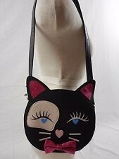 NWT Betsey Johnson LBLUCY Faux Leather Cat Face Flap Shoulder Crossbody Handbag