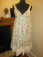 PEPE JEANS DRESS 12 Holly Hobbie grunge boho full victoriana lace flowery New