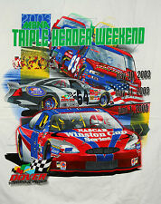 Vtg 2003 NASCAR Dover Int'l Speedway Racing MBNA 400 Triple T-Shirt New NOS XXL
