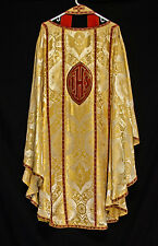 GOLD CHASUBLE & STOLE Angels Gloria, Priest Vestments Church Clergy Easter
