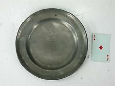 """Ca.1700 -1800's Pewter 8.7/8"""" Plate Makers Mark C. H. Zinn German or English"""