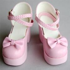 [wamami] 1/3 Pink SD BJD Dollfie High Heels Bow Synthetic Leather Shoes